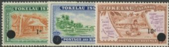TOK SG9-11 1967 Decimal Currency set of 3